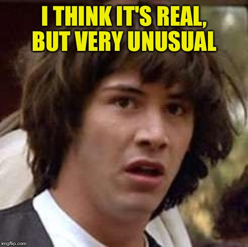 Conspiracy Keanu Meme | I THINK IT'S REAL, BUT VERY UNUSUAL | image tagged in memes,conspiracy keanu | made w/ Imgflip meme maker