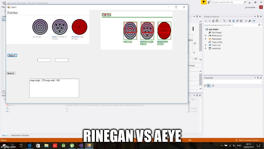 RINEGAN VS AEYE | image tagged in olrine | made w/ Imgflip meme maker
