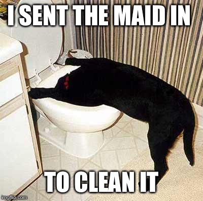 I SENT THE MAID IN TO CLEAN IT | made w/ Imgflip meme maker