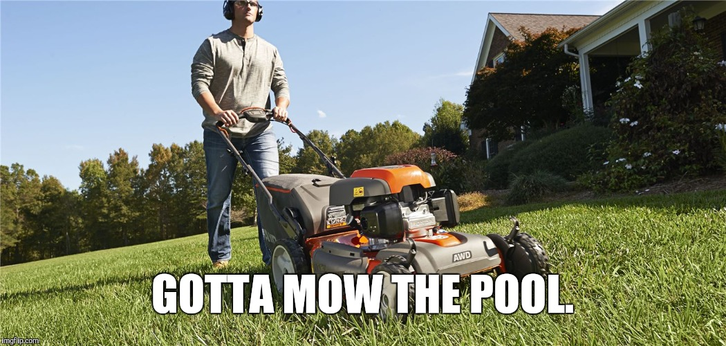 GOTTA MOW THE POOL. | made w/ Imgflip meme maker