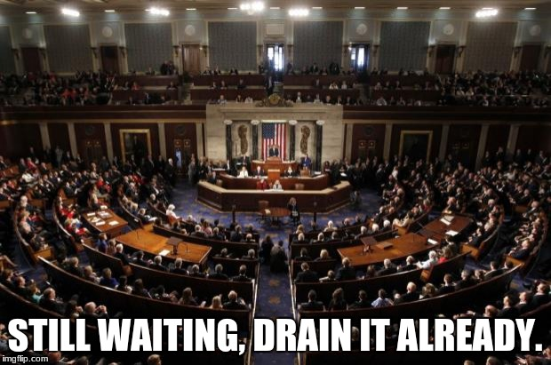 congress | STILL WAITING, DRAIN IT ALREADY. | image tagged in congress | made w/ Imgflip meme maker