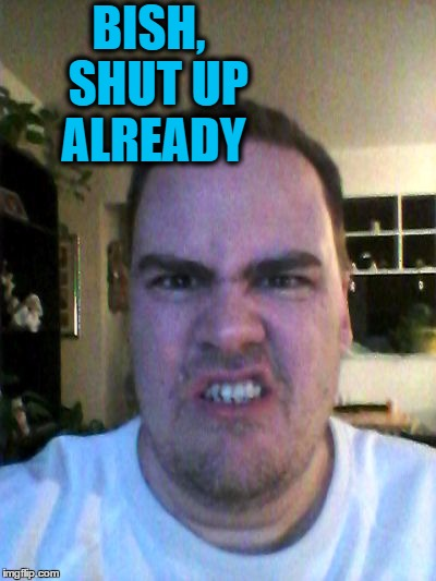 Grrr | BISH,  SHUT UP ALREADY | image tagged in grrr | made w/ Imgflip meme maker