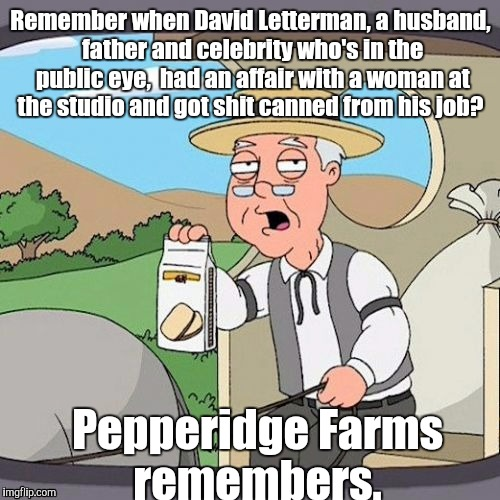 1ixr8j.jpg | Remember when David Letterman, a husband, father and celebrity who's in the public eye,  had an affair with a woman at the studio and got sh | image tagged in 1ixr8jjpg | made w/ Imgflip meme maker