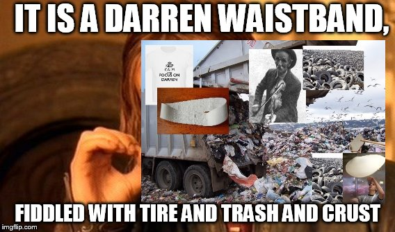 stinger | IT IS A DARREN WAISTBAND, FIDDLED WITH TIRE AND TRASH AND CRUST | image tagged in painful | made w/ Imgflip meme maker