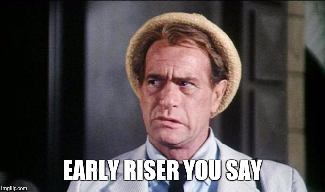EARLY RISER YOU SAY | made w/ Imgflip meme maker