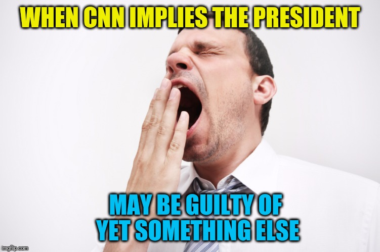 YAWN!  That's nice.  Where's that darn remote? | WHEN CNN IMPLIES THE PRESIDENT MAY BE GUILTY OF YET SOMETHING ELSE | image tagged in yawn | made w/ Imgflip meme maker