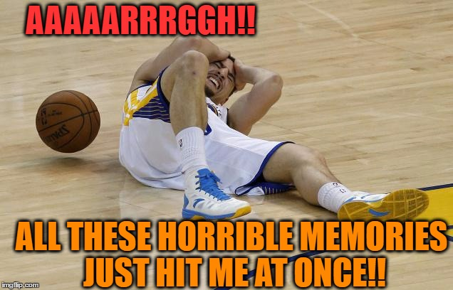wow! | AAAAARRRGGH!! ALL THESE HORRIBLE MEMORIES JUST HIT ME AT ONCE!! | image tagged in wow | made w/ Imgflip meme maker