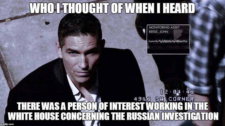 Person Of Interest | WHO I THOUGHT OF WHEN I HEARD THERE WAS A PERSON OF INTEREST WORKING IN THE WHITE HOUSE CONCERNING THE RUSSIAN INVESTIGATION | image tagged in person of interest,russia,white house,trump | made w/ Imgflip meme maker