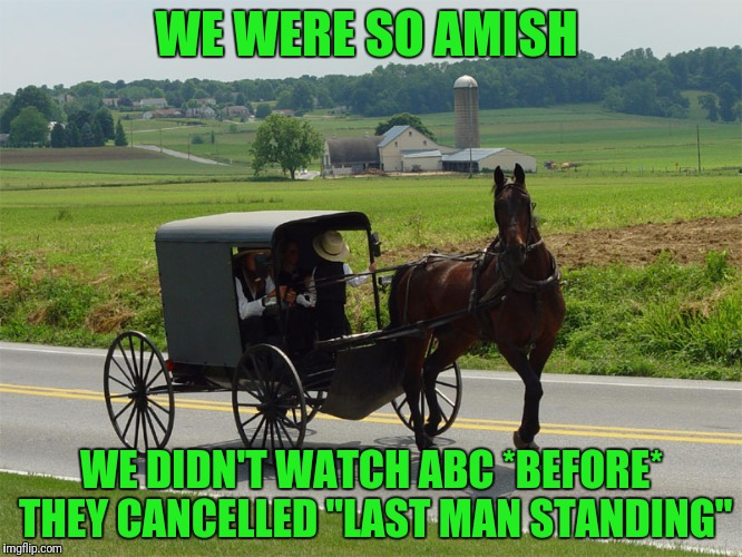 "WE WERE SO AMISH WE DIDN'T WATCH ABC *BEFORE* THEY CANCELLED ""LAST MAN STANDING"" 