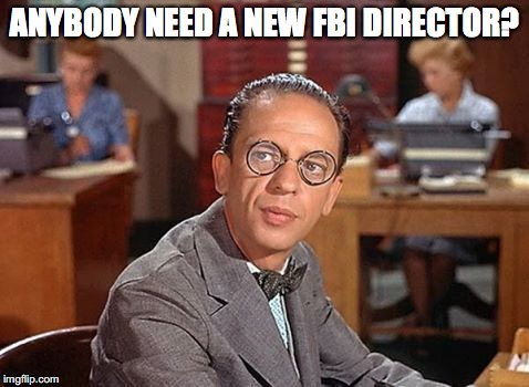 An Appropriated Candidate | ANYBODY NEED A NEW FBI DIRECTOR? | image tagged in don knotts,fbi director | made w/ Imgflip meme maker