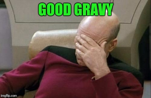 Captain Picard Facepalm Meme | GOOD GRAVY | image tagged in memes,captain picard facepalm | made w/ Imgflip meme maker