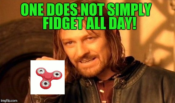 One Does Not Simply Meme | ONE DOES NOT SIMPLY FIDGET ALL DAY! | image tagged in memes,one does not simply | made w/ Imgflip meme maker