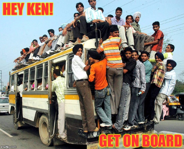 HEY KEN! GET ON BOARD | made w/ Imgflip meme maker