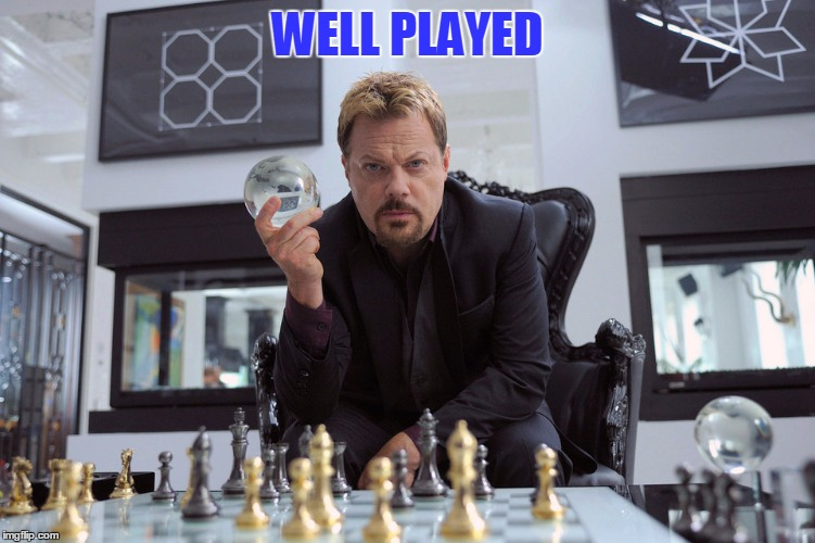 Eddy Izzard | WELL PLAYED | image tagged in eddy izzard | made w/ Imgflip meme maker