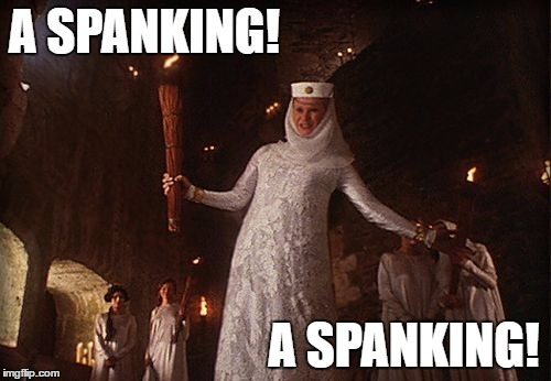 monty python and the holy grail spanking