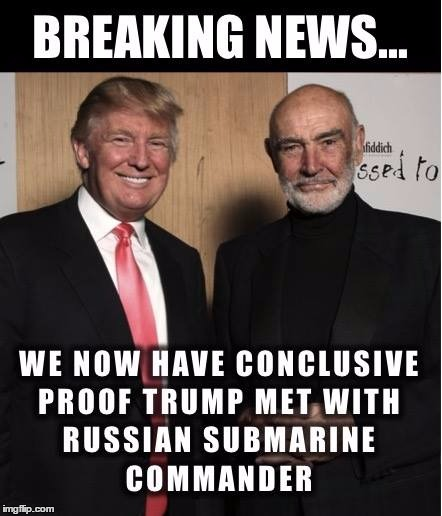 image tagged in funny memes,donald trump,sean connery | made w ...