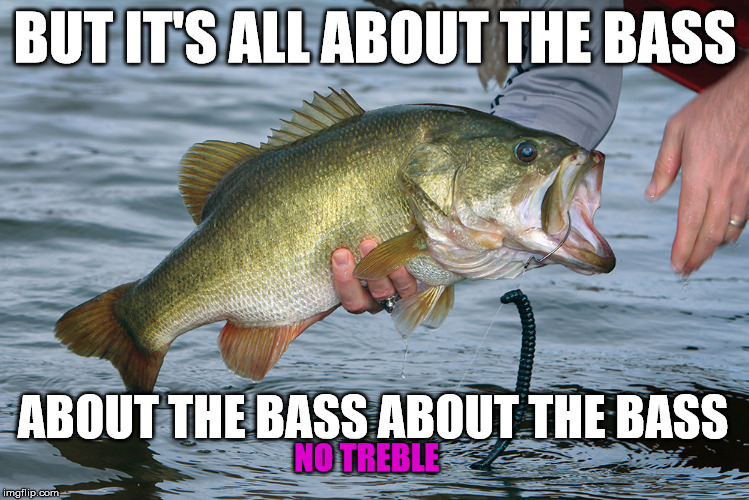 BUT IT'S ALL ABOUT THE BASS ABOUT THE BASS ABOUT THE BASS NO TREBLE | made w/ Imgflip meme maker
