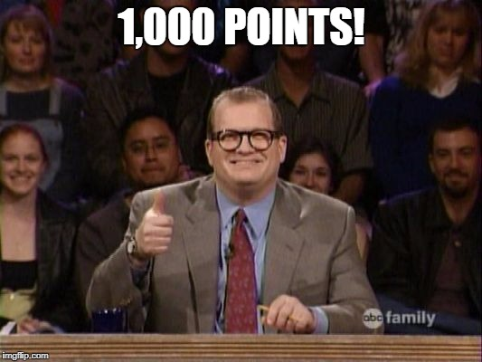 Thanks | 1,000 POINTS! | image tagged in thanks | made w/ Imgflip meme maker
