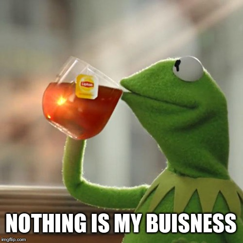 But Thats None Of My Business | NOTHING IS MY BUISNESS | image tagged in memes,but thats none of my business,kermit the frog | made w/ Imgflip meme maker