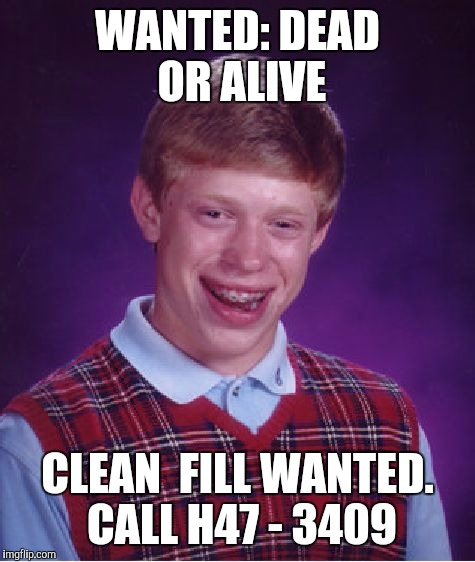 Good For Something | WANTED: DEAD OR ALIVE CLEAN  FILL WANTED. CALL H47 - 3409 | image tagged in memes,bad luck brian | made w/ Imgflip meme maker