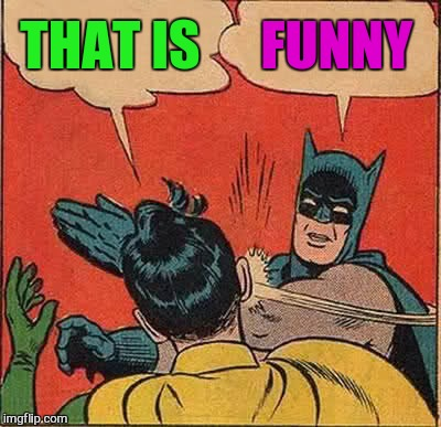 Batman Slapping Robin Meme | THAT IS FUNNY | image tagged in memes,batman slapping robin | made w/ Imgflip meme maker