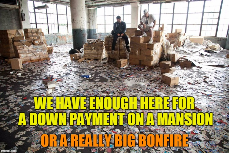 OR A REALLY BIG BONFIRE WE HAVE ENOUGH HERE FOR A DOWN PAYMENT ON A MANSION | made w/ Imgflip meme maker