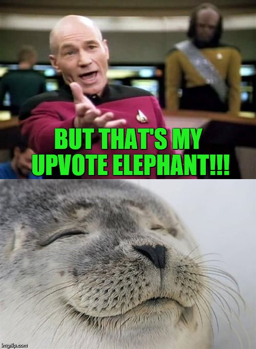 BUT THAT'S MY UPVOTE ELEPHANT!!! | made w/ Imgflip meme maker