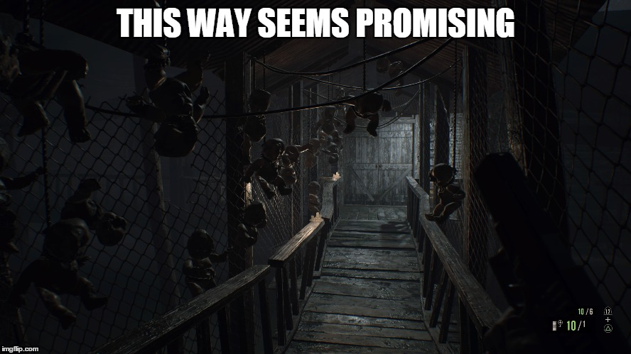 THIS WAY SEEMS PROMISING | image tagged in zombies | made w/ Imgflip meme maker