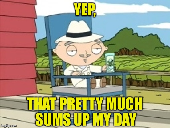 YEP, THAT PRETTY MUCH SUMS UP MY DAY | made w/ Imgflip meme maker