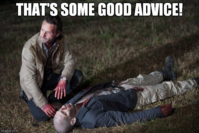 Rick and Shane | THAT'S SOME GOOD ADVICE! | image tagged in rick and shane | made w/ Imgflip meme maker