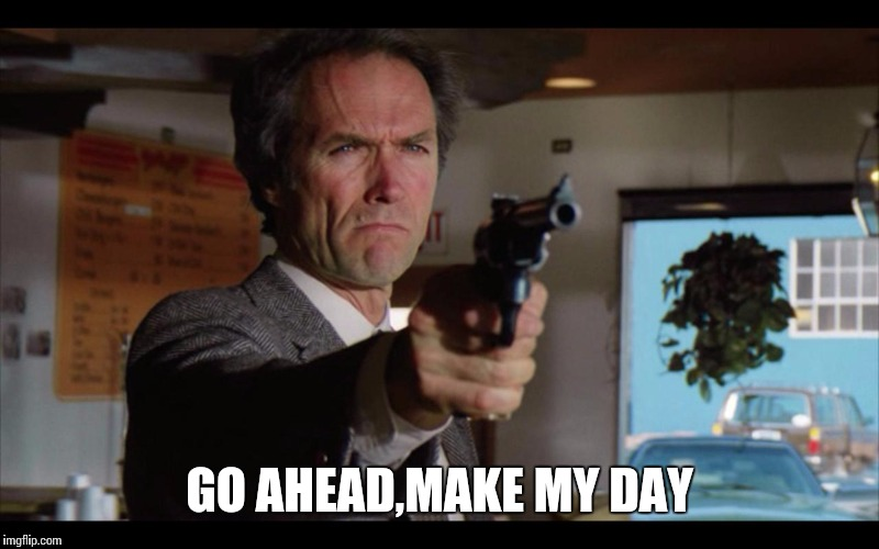 The line of lines | GO AHEAD,MAKE MY DAY | image tagged in dirty harry2,memes,movie quotes,movie one liner week | made w/ Imgflip meme maker
