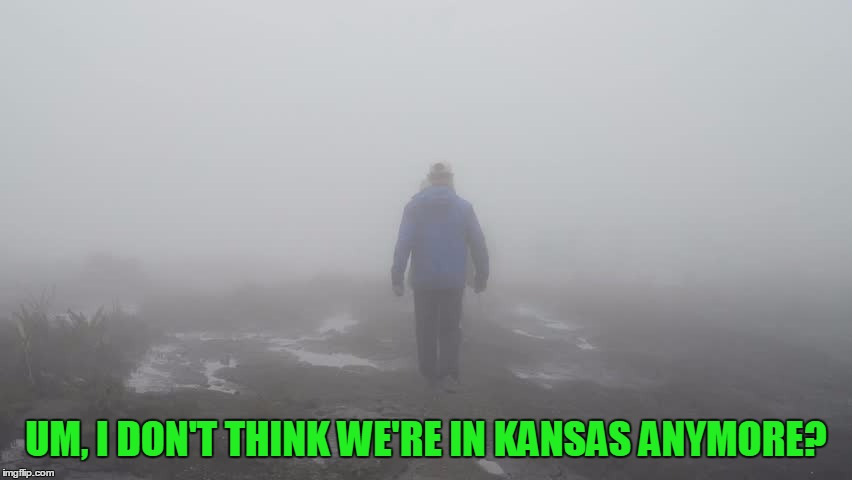 UM, I DON'T THINK WE'RE IN KANSAS ANYMORE? | made w/ Imgflip meme maker
