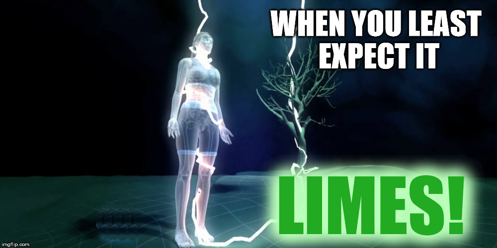 WHEN YOU LEAST EXPECT IT LIMES! | made w/ Imgflip meme maker