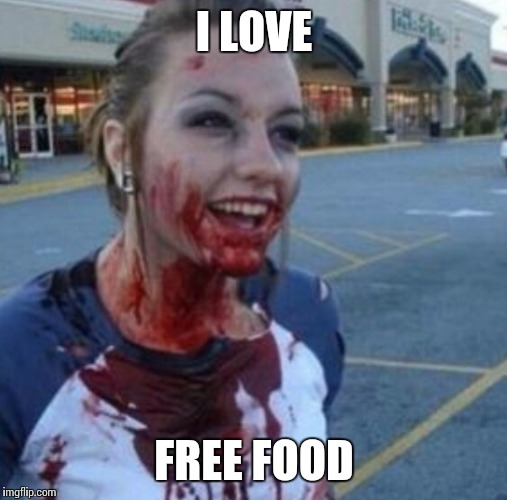 I LOVE FREE FOOD | made w/ Imgflip meme maker