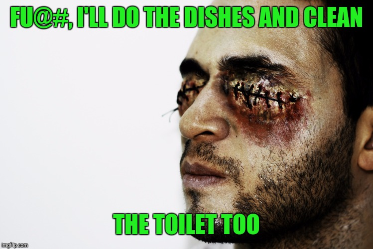 FU@#, I'LL DO THE DISHES AND CLEAN THE TOILET TOO | made w/ Imgflip meme maker