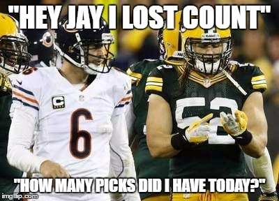 "Packers | ""HEY JAY I LOST COUNT"" ""HOW MANY PICKS DID I HAVE TODAY?"" 