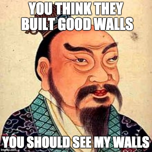 YOU THINK THEY BUILT GOOD WALLS YOU SHOULD SEE MY WALLS | made w/ Imgflip meme maker