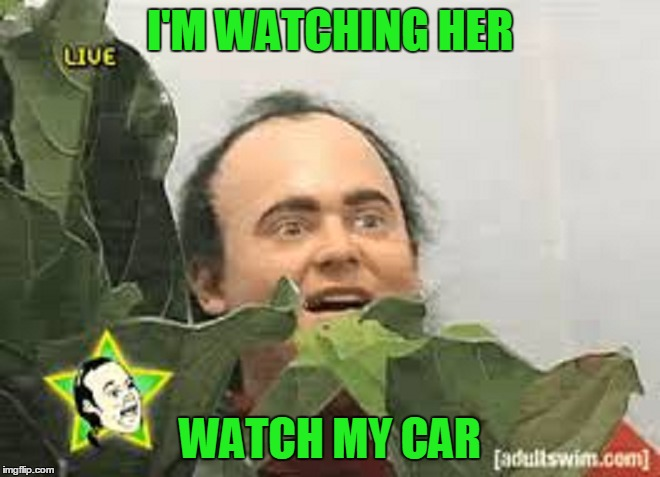 I'M WATCHING HER WATCH MY CAR | made w/ Imgflip meme maker