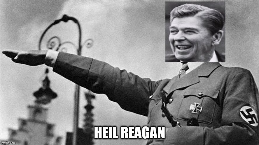 HEIL REAGAN | image tagged in adolf reagan,ronald reagan,adolf hitler,reagan,hitler,ronald hitler | made w/ Imgflip meme maker