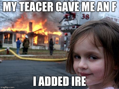 "When your teacher gives you a ""F"" 