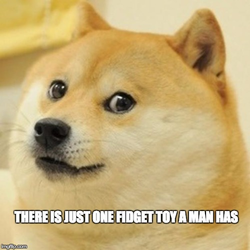 Doge Meme | THERE IS JUST ONE FIDGET TOY A MAN HAS | image tagged in memes,doge | made w/ Imgflip meme maker