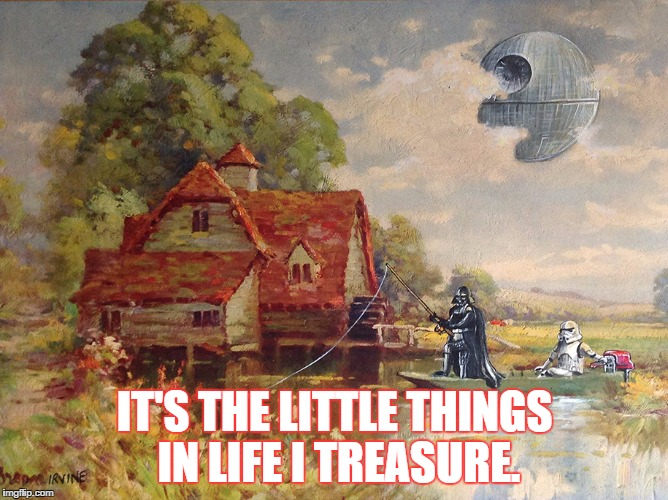 IT'S THE LITTLE THINGS IN LIFE I TREASURE. | image tagged in it's the little things in life i treasure | made w/ Imgflip meme maker
