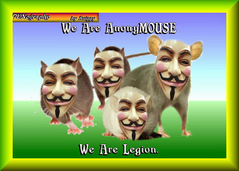 The rodents are rebelling! | WE ARE ANONYMOUSE WE ARE LEGION | image tagged in anonymouse,memes,punography | made w/ Imgflip meme maker
