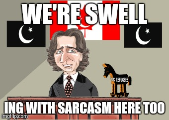 WE'RE SWELL ING WITH SARCASM HERE TOO | made w/ Imgflip meme maker