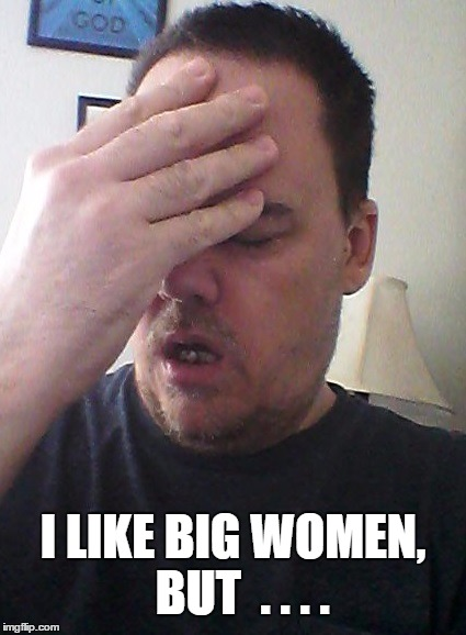 face palm | I LIKE BIG WOMEN,  BUT  . . . . | image tagged in face palm | made w/ Imgflip meme maker