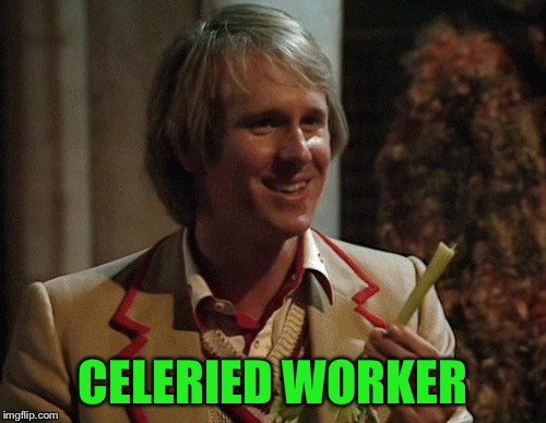 Celery Man | CELERIED WORKER | image tagged in memes,celery | made w/ Imgflip meme maker