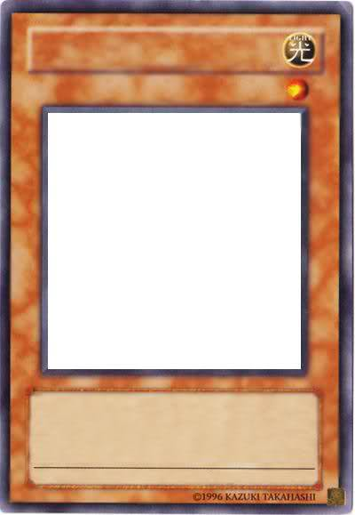 yugioh card template blank template imgflip