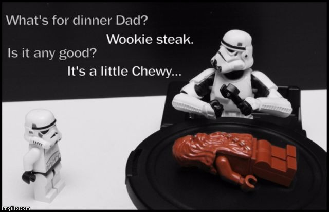 Googled Star Wars Humor and found this. Wish I had thought of it. | image tagged in chewy steak,star wars | made w/ Imgflip meme maker