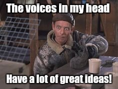 The voices in my head Have a lot of great ideas! | image tagged in the voices | made w/ Imgflip meme maker