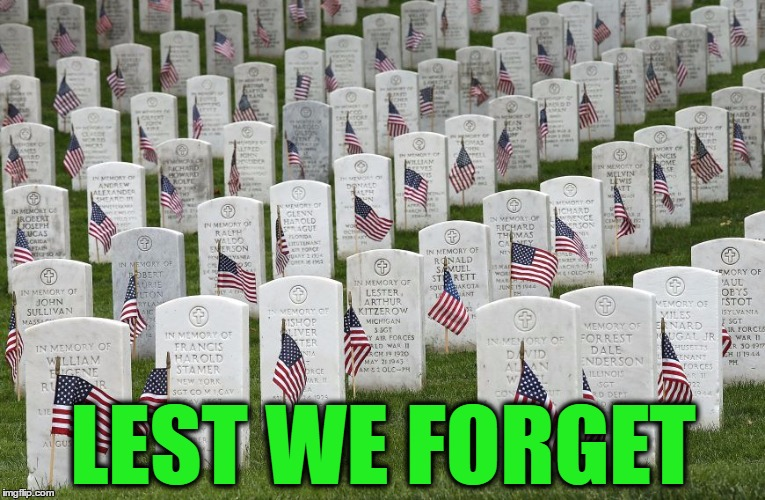 LEST WE FORGET | made w/ Imgflip meme maker